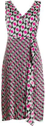 Dvf Diane Von Furstenberg Tenley hexagon print midi dress