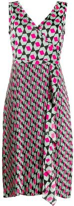 Diane von Furstenberg Tenley hexagon print midi dress