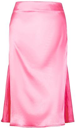 Yokodea Women's Casual Skirts NeonPink - Neon Pink High-Waist Midi Skirt - Women