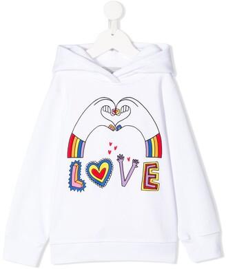 Stella Mccartney Kids Love Hands print hoodie