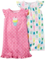 Carter's 2 Pack Gowns (Toddler/Kid) - Pink - 12-14