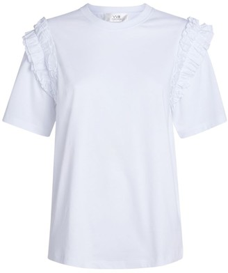 Victoria Beckham Ruffle-Trim T-Shirt