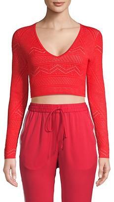 BCBGMAXAZRIA Cropped Sweater