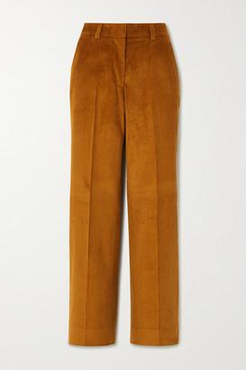 Officine Generale Celeste Cotton-corduroy Straight-leg Pants - Camel