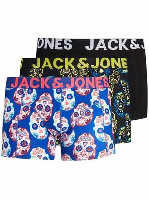 Jack and Jones Men's JACCOLORFULL Skull Trunk 3 Pack PS Boxer Shorts