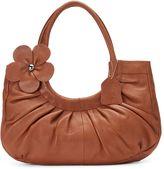 Donna Bella Mabel Floral Leather Shoulder Bag