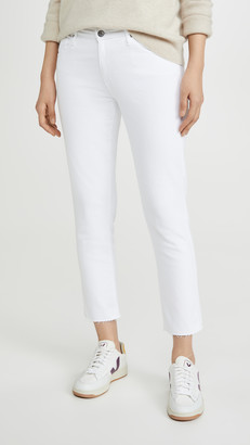 AG Jeans The Prima Crop Raw Hem Jeans
