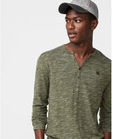 Express small lion long sleeve cutaway henley