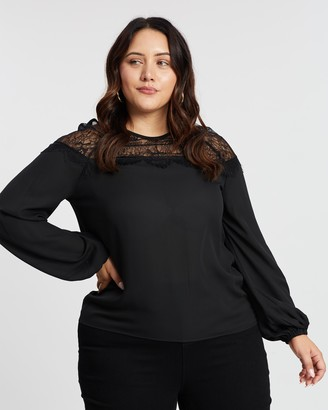 Atmos & Here Dakota Lace Panel Blouse