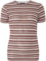 Dorothy Perkins Berry and Ivory stripe knitted Tee