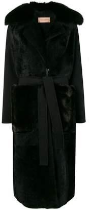 Yves Salomon long shearling coat