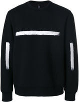 Neil Barrett brushstroke print sweatshirt