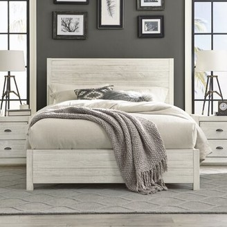 Grain Wood Furniture Montauk Solid Wood Bed Size: Queen, Color: Rustic Off-White