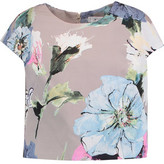 Milly Floral-Print Cotton-Blend Faille Top