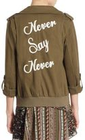 Alice + Olivia Marvis Embroidered Cargo Jacket