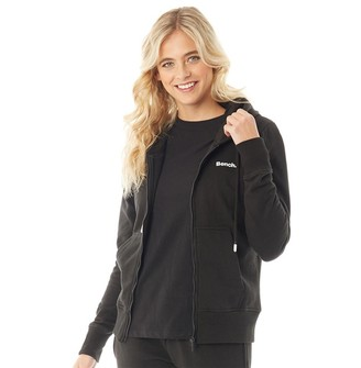 Bench Womens Belleville Zip Through Hoodie Black