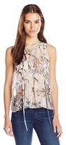 Twelfth Street By Cynthia Vincent Women's Lace up Front Top