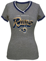 5th & Ocean Women's Los Angeles Rams Colorblock V T-Shirt