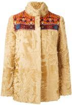 Etro concealed fastening coat