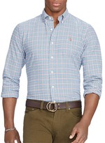 Polo Ralph Lauren Checked Cotton Oxford Classic Fit Button Down Shirt