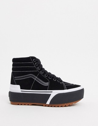 Vans SK8-Hi Stacked suede trainers in black