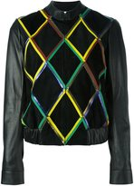 Marco De Vincenzo diamond pattern leather jacket
