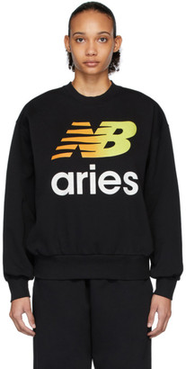 Aries Black New Balance Edition Logo Sweatshirt