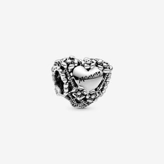 Pandora Openwork Flower Heart Mummy Charm