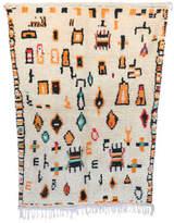 "Indigo&Lavender Vintage Azilal Moroccan Berber Rug, 3'11"" x 5'7"" feet"
