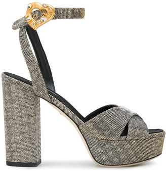 Dolce & Gabbana Platform Ankle Strap Sandals