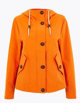Marks and Spencer Cotton Hooded Parka Jacket
