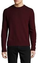 Prada Solid Wool Ribbed Sweater