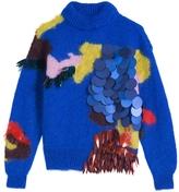 DELPOZO Intarsia Volume Sweater