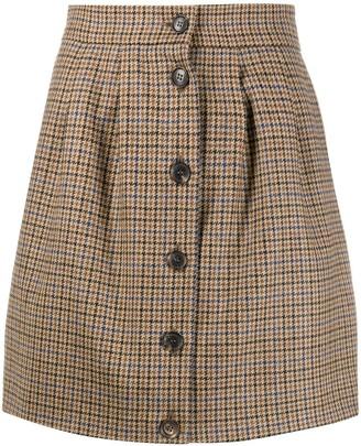 Roseanna Check Mini Skirt