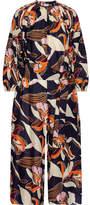 Apiece Apart Las Islas Printed Cotton And Silk-blend Jumpsuit - Navy