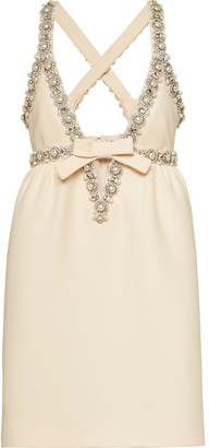 Miu Miu Pearl And Crystal-Embellished Dress