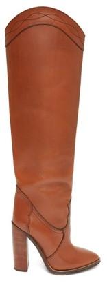 Saint Laurent Kate Knee-high Leather Boots - Tan