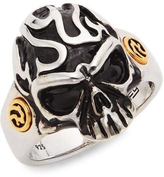 Effy Skull Goldplated Sterling Silver Ring