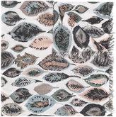 Hemisphere Leaf print scarf