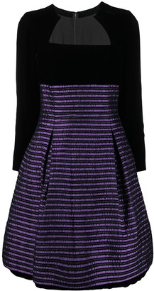 Christian Dior Pre-Owned Striped Flared Dress