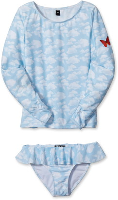 Stella Cove Sky & Butterfly Two-Piece Swimsuit