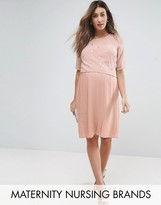 Mama Licious Mama.licious Mamalicious Nursing Premium Double Layer Embellished Dress