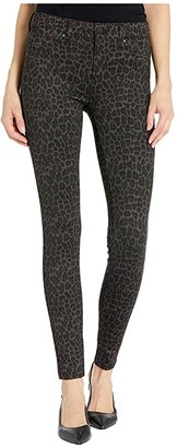 Liverpool Madonna Knit Leggings in Brown Cheetah Print (Brown Cheetah) Women's Jeans