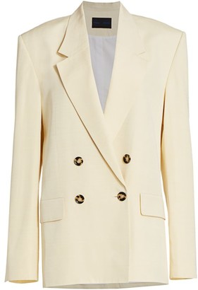 Proenza Schouler Suiting Double Breasted Blazer