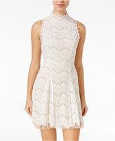 Trixxi Juniors' Lace Tulle Fit & Flare Dress