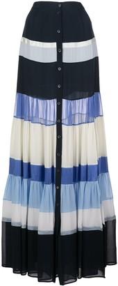 Altuzarra Starboard striped maxi skirt