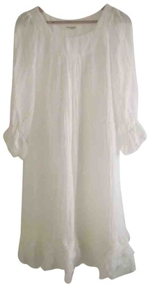 Masscob White Linen Dress for Women