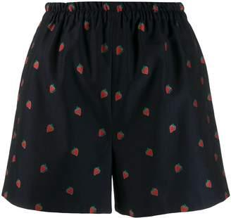 Gucci strawberry print shorts