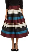 Ted Baker Majida Striped Midi Skirt