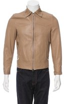 Tomas Maier Leather Satin-Lined Jacket
